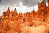 Storm Clouds Over Navajo Loop Trail in Bryce Canyon — Stock Photo