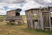 Old Time Cowboy Sheriff's Wagon — Stock Photo