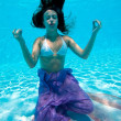 Underwater view of a woman swimming in the swimming pool — Stock Photo #14459759