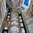 Cruise ship Atrium — 图库照片
