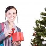 Beautiful Girl by the Christmas Tree — Stock Photo #2692527