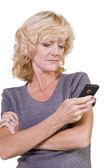 Vacker flicka textning — Stockfoto