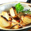 Pan roasted onion - Stock Photo