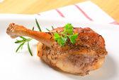 Roast duck leg — Stock Photo