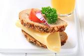 Panino al formaggio — Foto Stock