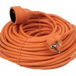 Stock Photo: Coiled Extension Cord