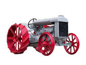 Collectible antique toy tractor — Stock Photo