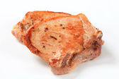 Pan-fried pork chop — Stock Photo