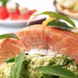 Stock Photo: Salmon fillet and couscous