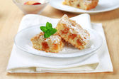 Apple crumb cake — Stock Photo