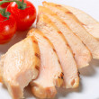 Slices of grilled chicken breast — Stock Photo