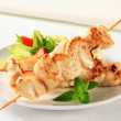 Stock Photo: Chicken skewers