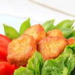 Stock Photo: Crispy fritters with vegetables
