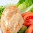 Stock Photo: Chicken breast fillet with vegetables