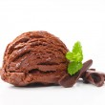 chocolade-ijs — Stockfoto