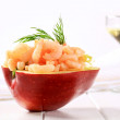 Shrimp appetizer - Stock Photo