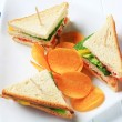 Vegetable Sandwiches and crisps — Stock Photo #14099167