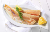 White fish fillets — Stock Photo