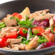 Stock Photo: Chicken vegetable stir fry