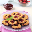 Stock Photo: Jam cookies