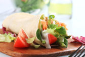 Salmon wrap sandwich — Stock Photo