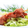Pork skewer — Stock Photo
