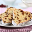 Slices of stollen — Stock Photo
