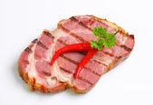 Grilled pork steak — Stock Photo
