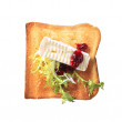 Toast and French cheese — Stock Photo