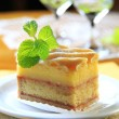 Liquor soaked cake — Stockfoto