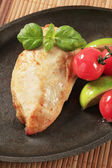 Pan seared chicken breast — Stock Photo