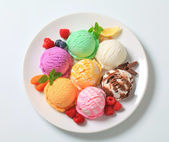 Gelato assortito — Foto Stock