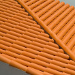 Spanish tile roof - Stock Photo