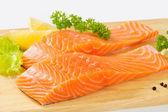 Raw salmon fillets — Stock Photo