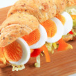 Egg submarine sandwich — Stock Photo