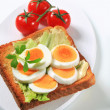 Open faced egg sandwich — Stock Photo