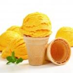 Yellow ice cream — Stock Photo