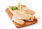 Fresh fish fillets — Stock Photo