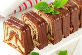 Marble pound cake — Stock Photo