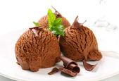 Chocolate fudge ice cream — Stock Photo