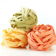 Dried ribbon pasta — Stock Photo
