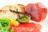 Ingredients for beef Carpaccio — Stock Photo