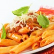 Penne with meat tomato sauce — Stock Photo #22817802