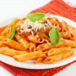 Penne with meat tomato sauce — Stock Photo #22817808