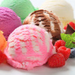 Assorted ice cream — Stockfoto