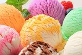 アイスクリームの盛り合わせ — ストック写真