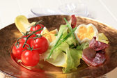 Fresh vegetables and boiled eggs — Stock Photo