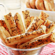 Puff Pastry Straws — Stock Photo