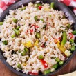 Stock Photo: Vegetable fried rice