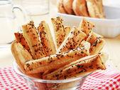 Puff Pastry Straws — Stock Photo